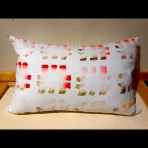 CB2 Watercolor & embroidered pillows. Set of 2.
